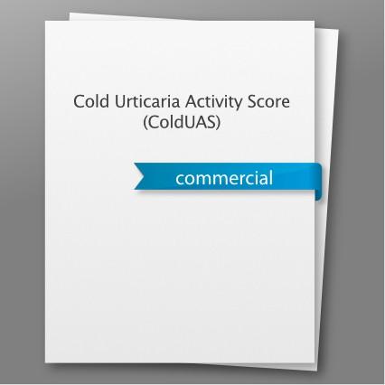 Cold Urticaria Activity Score (ColdUAS)