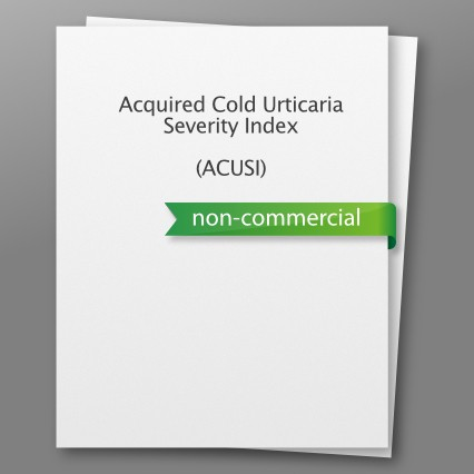 Acquired Cold Urticaria Severity Index (ACUSI) - nicht kommerziell