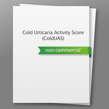 Cold Urticaria Activity Score (ColdUAS) - non-commercial use