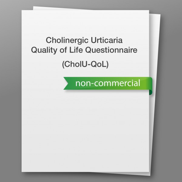 Cholinergic Urticaria Quality of Life Questionnaire (CholU-QoL) - non-commercial use
