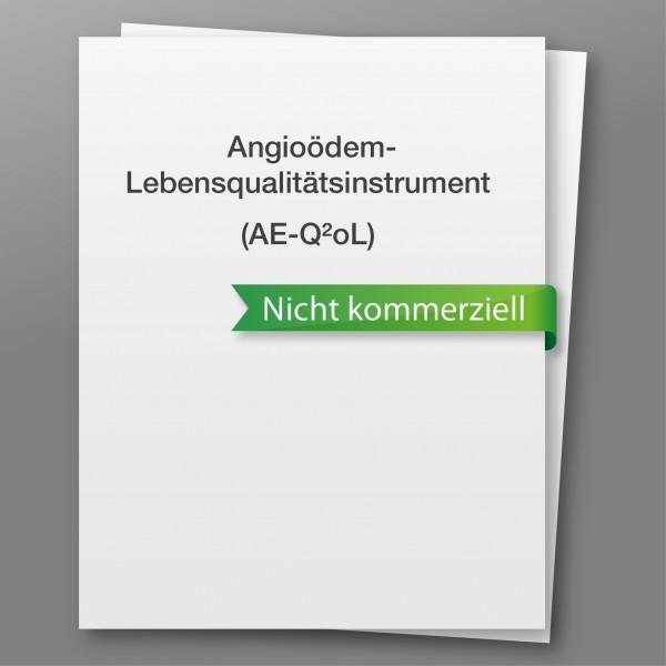 Angioedema Quality of Life Instrument (AE-QoL) - nicht kommerzieller Gebrauch