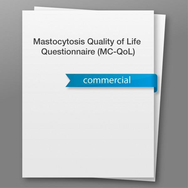 Mastocytosis Quality of Life Questionnaire (MC-QoL) - kommerzieller Gebrauch