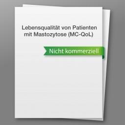 Mastocytosis Quality of Life Questionnaire (MC-QoL) - nicht kommerzieller Gebrauch